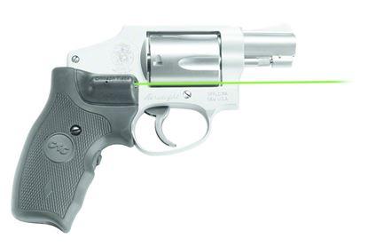 Picture of Crimson Trace LG-350G Lasergrips Laser Sight, Black, Pressure Sensor Activation, Green Laser, Fits S&W J-Frame Revolvers