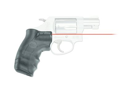 Picture of Crimson Trace LG-350 Lasergrips Laser Sight, lack, Pressure Sensor Activation, Red Laser, Fits S&W J Frame Round Butt, Red