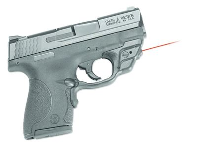 Picture of Crimson Trace LG-489 Laserguard Laser Sight, Black, Pressure Sensor Activation, Red Laser, Fits S&W M&P Shield