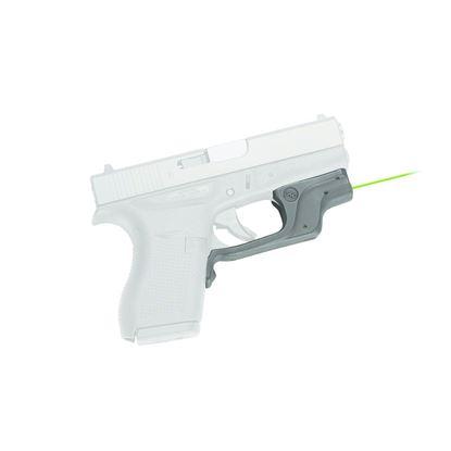 Picture of Crimson Trace LG-443G Laserguard Laser Sight, Black, Pressure Sensor Activation, Green Laser, Fits Glock 42, 43 Pistols