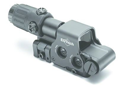 """Picture of EOTech HHS2 Holographic Hybrid Sight II Sight, 123 Lithium Batt, 3x, 30 ft FOV at 100yd, 1"""" Weaver Mount, NV Compatible"""