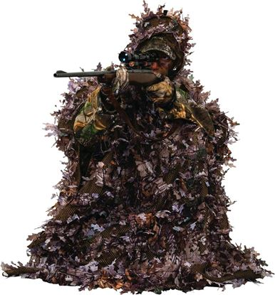 Picture of Ameristep 4RXM023 3-D Leafy Poncho, One Size fits Most, Realtree Xtra Camo Pattern
