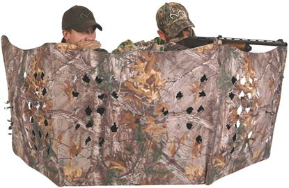 """Picture of Ameristep 1RX2W112 Throwdown Three Panel Compact Blind, Hub Design, 91"""" x 25"""" Tall, Realtree Xtra, Wall Style No Roof"""