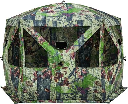 Picture of Barronett PT550BW Pentagon 4 Person 5 Sided Hub Blind Bloodtrail Backwoods Camo