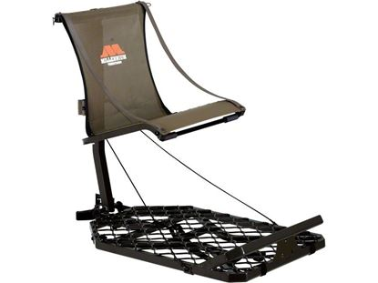 """Picture of Millennium M-150-SL Monster Hang-On Lock-On Stand, Adjustable Seat 17""""-20"""", w/Camlock Receiver, Backpack Straps, Footrest"""