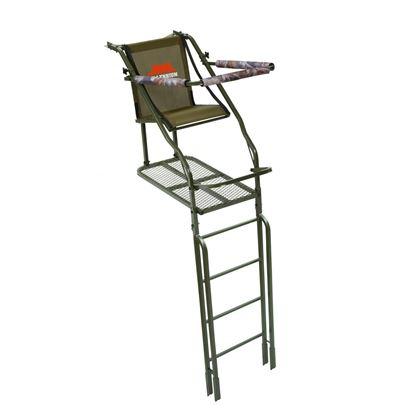 Picture of Millennium L-110-SL 21' Single Ladder Stand, w/Large Platform, Safe-Link Safety Line, Padded Shooting Rail, Folding Footrest