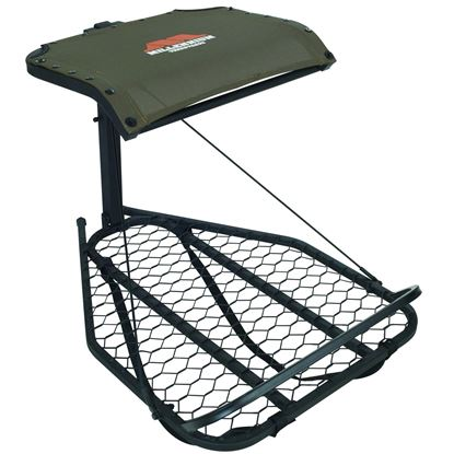 Picture of Millennium M-050-SL Steel Hang-On Stand, w/Chain and Footrest, Interlock Leveling, Camlock