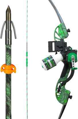 Picture of AMS B705-MOC-RH Water Moc Recurve Bow Kit - Right Hand, Includes Retreiver TNT, Tidal Wave Rest, Green Chaos Arrow & String Things