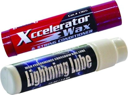 Picture of Bohning 801005 Crossbow Lube Kit Xccelerator String Wax Lightning Rail Lube