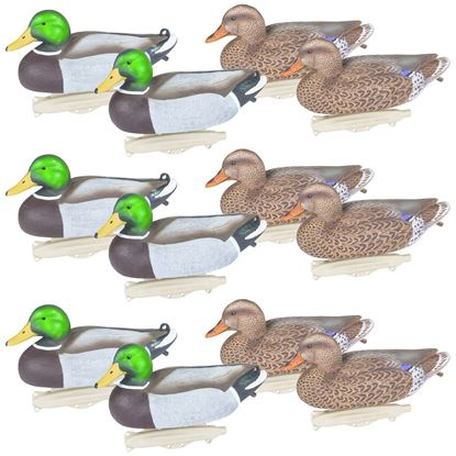 Picture of Flambeau 8030SUV Storm Front 2 Classic Floater Mallard Decoys, HD Winter Plumage, UVision Paint, 12 Pack