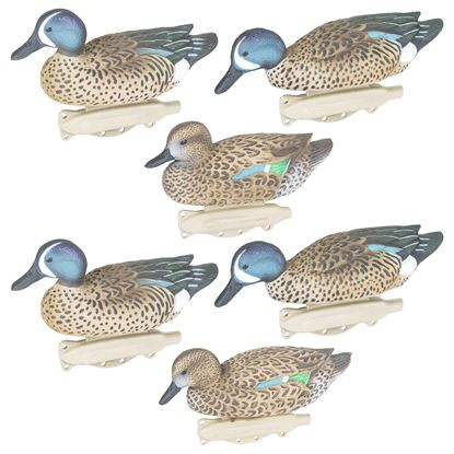 Picture of Flambeau 8016SUV Storm Front 2 Classic Blue-Winged Teal Decoys, HD Winter Plumage, UVision Paint, 6 Pack