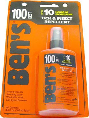 Picture of Ben's 0006-7080 100 Max Tick & Insect Repellent, 3.4oz Spray, 98.11% DEET