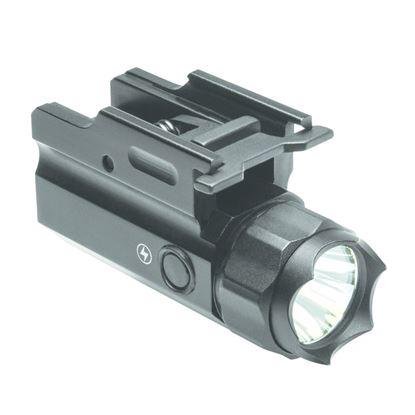 Picture of NcSTAR AQPTF3 Rail Mount 150 Lumen LED Compact Flashlight QR w/Strobe, GEN III