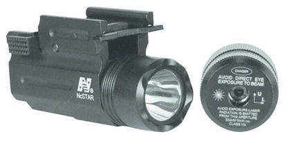 Picture of NcSTAR AQPTFLG Compact Pistol and Rifle Flashlight Green Laser Quick Release Weaver Mount