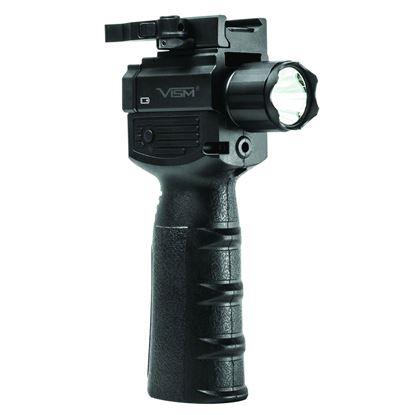 Picture of NcSTAR VAQVGFLRV2 VISM GEN2QR Vertical Grip/ Built in LED Flashlight & Red Laser with Strobe