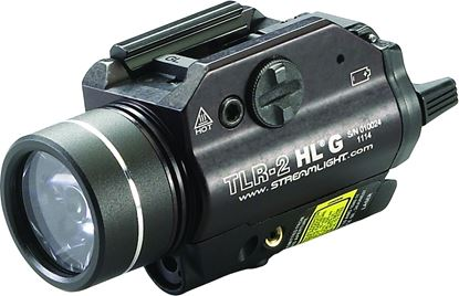 Picture of Streamlight 69265 TLR-2 w/White LED and Green Laser;Includes Rail Locating Keys for Glock style, 1913 Picatinny, S&W 99/ TAW Beretta 92 and (2) lithium batteries.