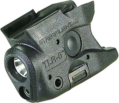 Picture of Streamlight 69273 TLR-6M&P Shield Tactical gun mounted flash light, fits Glock 26/27, C4 LED and red laser, CR123A LiBatt