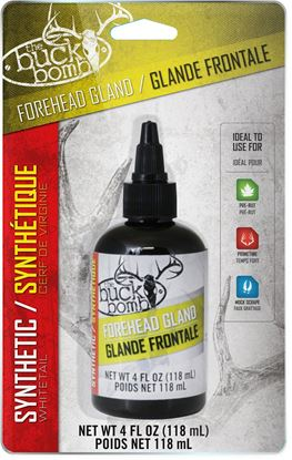 Picture of Buck Bomb 200015 Synthetic Forehead Gland, Liquid, 4oz w/ 4 wicks