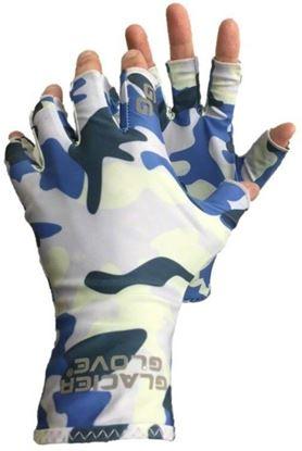 Picture of Glacier 009BC-S/M Abaco Bay Sun Glove-Blue Camo-Small/Medium
