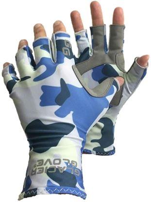 Picture of Glacier 079BC-XL Islamorada Sun Glove-Blue Camo-Xlarge