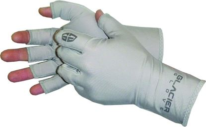 Picture of Glacier 009GY-SM/MED Abaco Bay Sun Glove Sm/Med Fingerless 50+UPF Light Gray Color