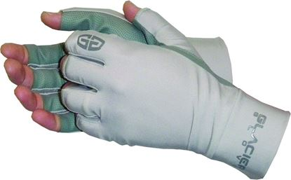 Picture of Glacier 007GP-S Ascension Bay Sun Glove Small Polyurethane Palm Fingerless 50+UPF
