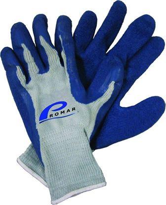 Picture of Promar GL-200-L Blue Latex Grip Glove Lg Blue Latex