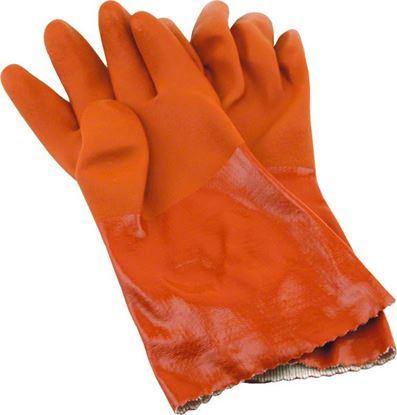 Picture of Hi-Seas HG-620-XL Sea Grip Vinyl Waterproof Gloves, Orange, X-Large, 1 pair