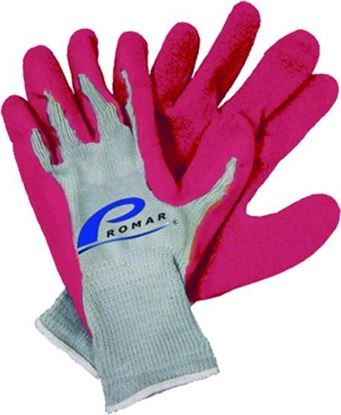 Picture of Promar GL-200P-S Pink Latex Grip Gloves Small