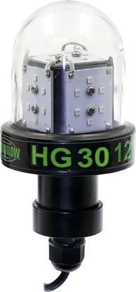 Picture of Hydro Glow HG30 30w, 12v Deep Water LED Fishing Light, Globe style, Green, 20' cord, 3600 lumen