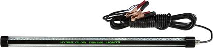 "Picture of Hydro Glow HG3108 2', 20w, 12v LED Fishing Light, 24"" long, Green, 20' cord, 2000 lumen"