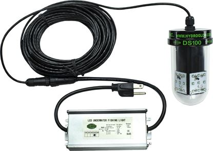 Picture of Hydro Glow DS100 100w, LED, 120v, Underwater Dock Light, Sinking style, Green, 50' cord