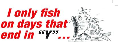 Picture of AFN ST206 Fun Decal I Only Fish On Days That