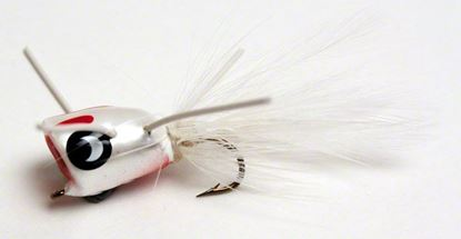 Picture of Betts 304-8-1 Bee Pop Fly Popper, White/Red/White