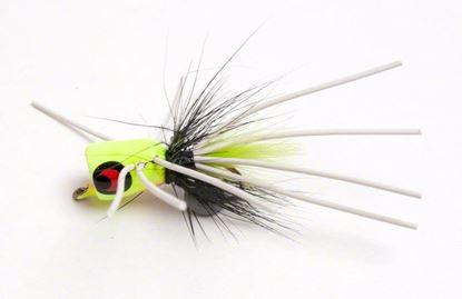 Picture of Betts 130D-10 Falls Fire Shimmy Fly Popper, Sz 10,, Chartreuse/Black/Chartreuse