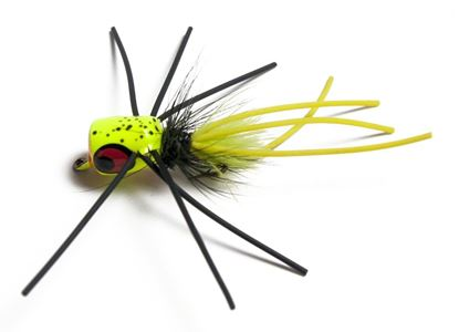 Picture of Betts 1201-10-7 Pop n' Hot Fly Popper Chartreuse Speckle Sz 10