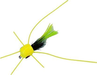 Picture of Betts 401-10-1 Marathon Wiggle Popper Fly Popper, Sz 10, White/Black/White, Floating