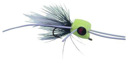 Picture of Betts 401-10-6 Marathon Wiggle Popper Fly Popper, Sz 10, Glo/Black/White, Floating