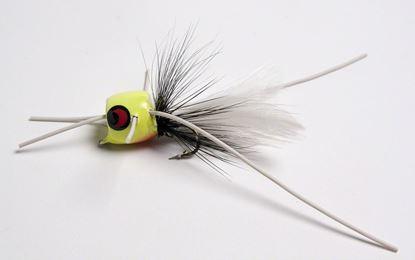 Picture of Betts 401-6-6 Marathon Wiggle Popper Fly Popper, Sz 6, Glo/Black/White, Floating