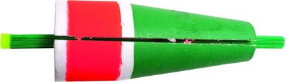 """Picture of Billy Boy 80W-3RG Slotted Weighted Popping Float 3"""" Red/Green 12/Tray"""