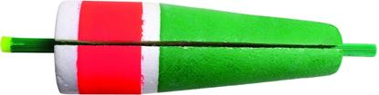 """Picture of Billy Boy 80W-4RG Slotted Weighted Popping Float 4"""" Red/Green 12/Tray"""