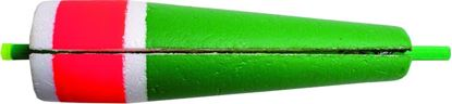 """Picture of Billy Boy 80W-5RG Slotted Weighted Popping Float 5"""" Red/Green 12/Tray"""