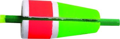"""Picture of Billy Boy 90W-2RG Slotted Weighted Rattling Popping Float 2"""" Red/Green 12/Tray"""