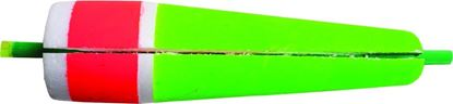 """Picture of Billy Boy 90W-5RG Slotted Weighted Rattling Popping Float 5"""" Red/Green 12/Tray"""