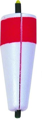 """Picture of Billy Boy 80W-4RW Slotted Weighted Popping Float 4"""" Red/White 12/Tray"""