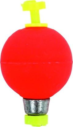 """Picture of Billy Boy B075W-50R Weighted Round Foam Float Snap-On 50Bg 3/4"""" Red"""