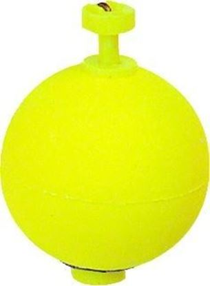 """Picture of Billy Boy B075W-50Y Weighted Round Foam Float Snap-On 50Bg 3/4"""" Yel"""