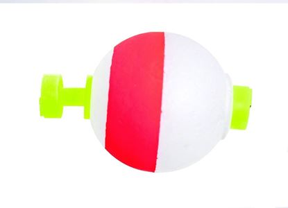"""Picture of Billy Boy B100SN-50RW Round Foam Float Snap-On 50Bg 1"""" Red/White"""