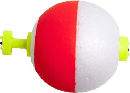 """Picture of Billy Boy B125SN-50RW Round Foam Float Snap-On 50Bg 1-1/4"""" Red/White"""