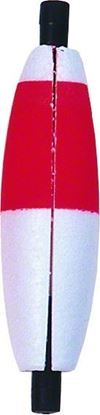 """Picture of Billy Boy B0BSL-RW Foam Slotted Cigar Peg Floats 2"""" 100Pk Red/White"""